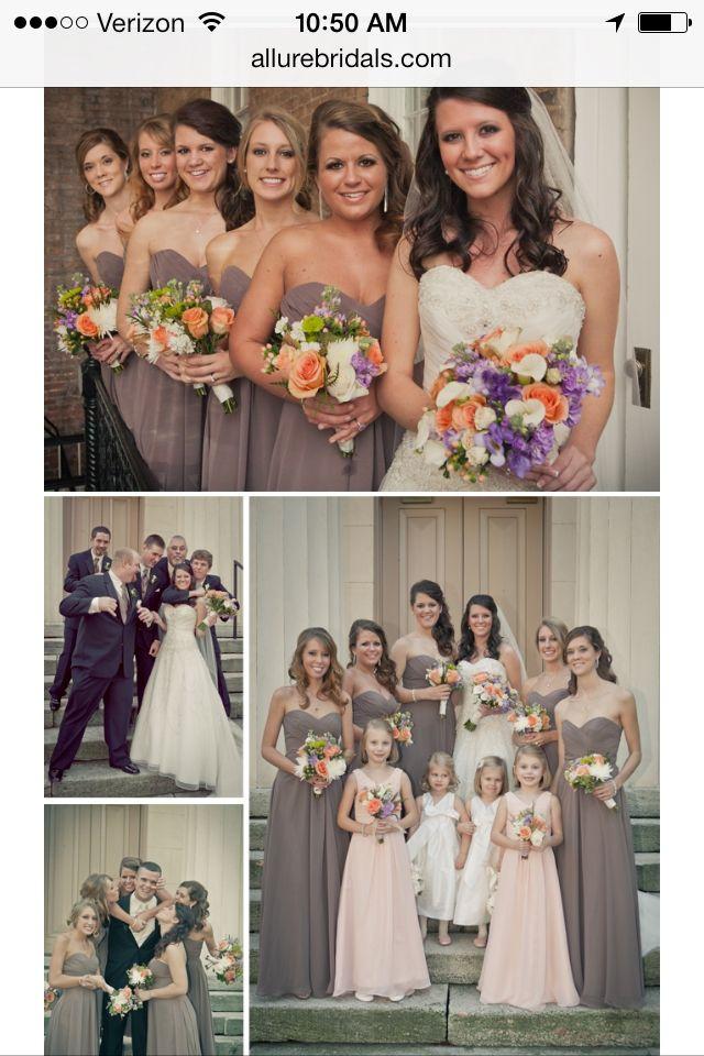 Allure bridesmaids dresses in stone