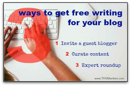 "There are good reasons to have somebody else write your blog posts for you. The ""free"" ways actually have benefits you won't get by just paying a writer."