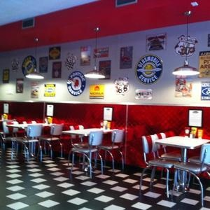 Tailpipes burgers on High St. Morgantown, WV - One of the best burger places I've ever been to in my life ever.