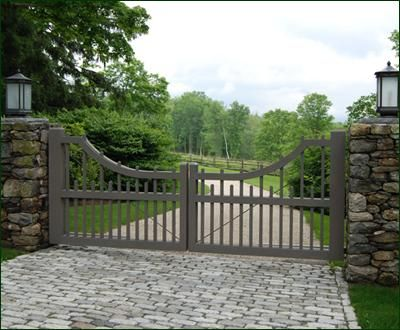 Cellular PVC Picket Entrance Gate   Entrance Gates, Wood Gates, and more from Walpole Woodworkers