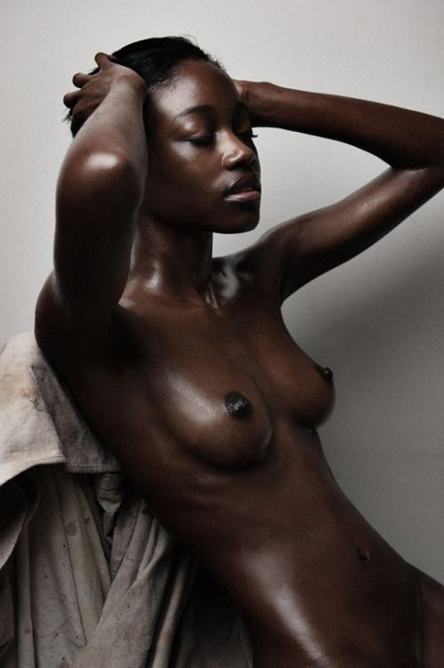 Beautiful dark skin black women nude