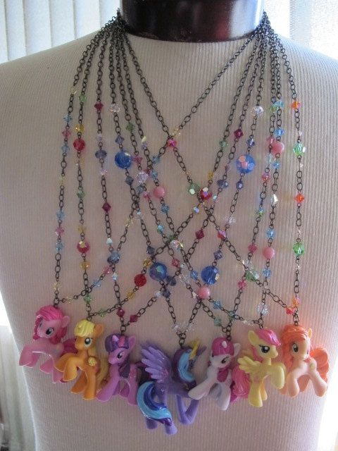 My Little Pony: Friendship is Magic necklaces via Etsy.