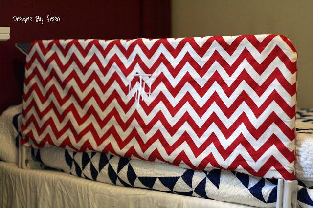 Toddler bed rail slipcover tutorial-- Designs by Sessa