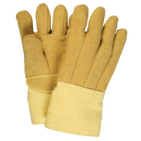 National Safety Apparel Large 14 inch Norbest 845 45 Ounce PBI And Kevlar 10 Ounce Lined Heat Resistant Gloves With Gauntlet Cuff And Wool Palm Lining