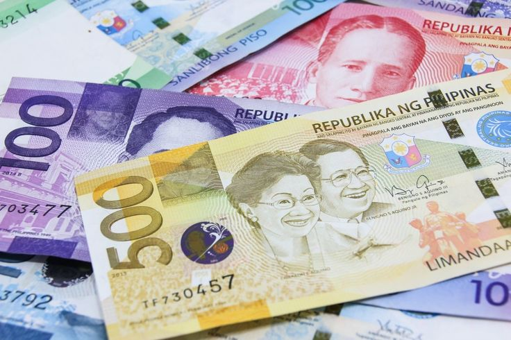 Philippine peso currency bills