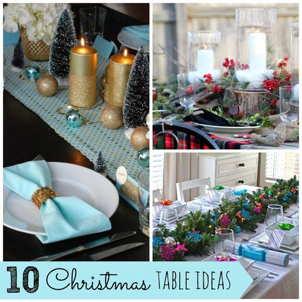 10 Gorgeous Christmas Table Ideas on www.prettymyparty.com.