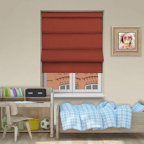 Controliss Asti Terracotta battery powered roman blind. #Home #HomeDecor #InteriorDesign #Decor #RomanBlinds #CreateYourHome #BudgetBlinds #WindowShades #Window #Design #Blind #WindowCoverings #Windows #Blinds #MadeinUK
