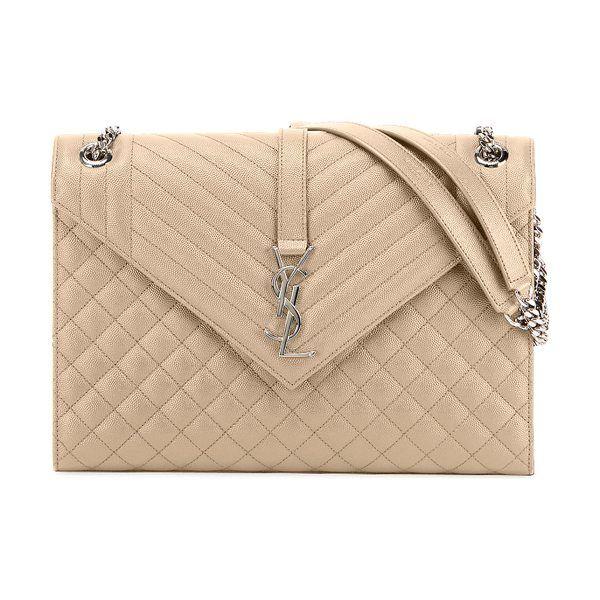 15712560fcb Monogram ysl v-flap large tri-quilt envelope chain shoulder bag - miroir  hardware by Saint Laurent  saintlaurent  bags