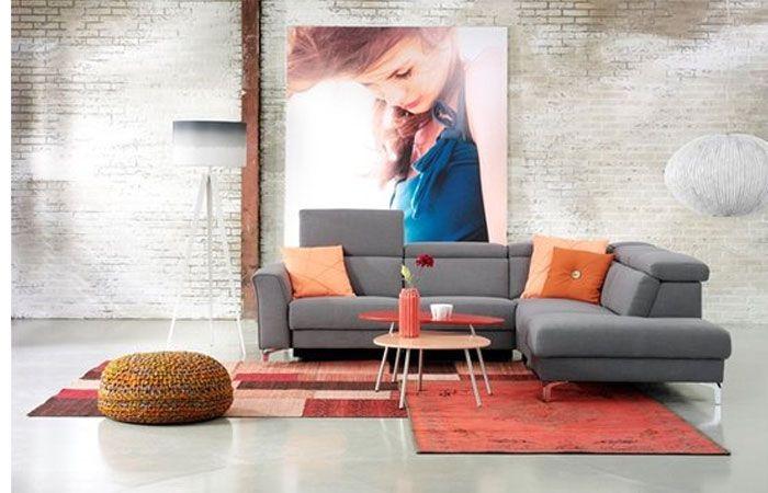 Hoekbank Emporio van Topform is leverbaar in diverse kleuren leder/stof.