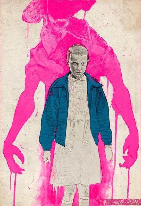 Cosas más extrañas: Once y el monstruo impresión del arte Poster