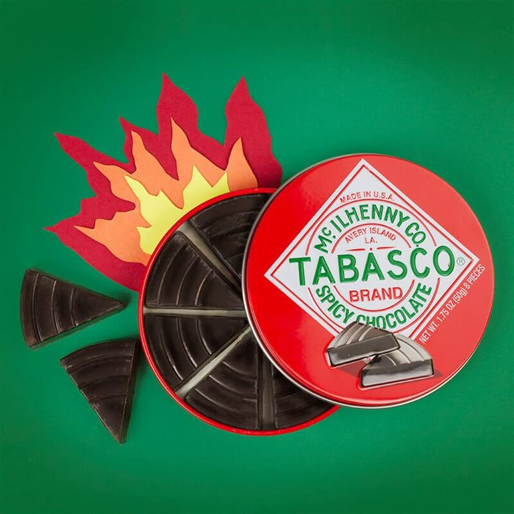 Empire Food Brokers Tabasco Chocolate Tin It starts with that sweet dark chocolate taste. At first you will think, How is this chilli flavour Until suddenly the heat creeps up and bites the back of your tongue. A short sharp blaze of Tabasco  http://www.MightGet.com/january-2017-13/empire-food-brokers-tabasco-chocolate-tin.asp