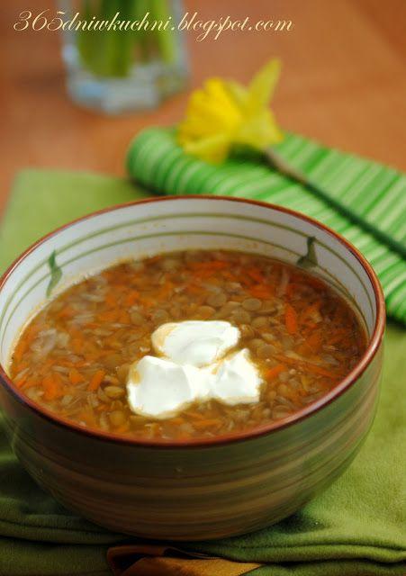 w 365 dni dookoła kuchni: Zupa z zielonej soczewicy