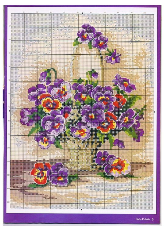 Purple Pansies 3/3