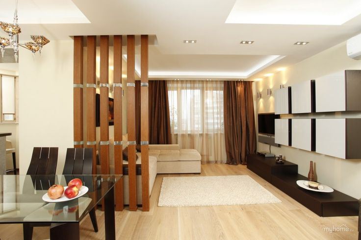 Modern Living Room Zoning Methods Collection. Dining and living separation thanks to bamboo partition