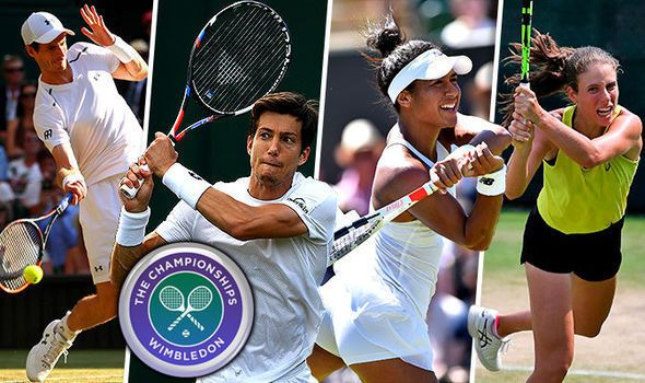 Wimbledon 2017 LIVE: Heather Watson into decider Aljaz Bedene OUT Andy Murray later