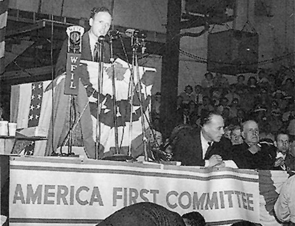 17 Sep 39: American aviation hero Charles Lindbergh makes his first anti-intervention radio speech, supported by former president Herbert Hoover, Theodore Roosevelt Jr, Henry Ford and others. After the attack on Pearl Harbor on 07 Dec 41, growing support for the AFC will come to an abrupt halt and the Committee will disband four days later. #WWI