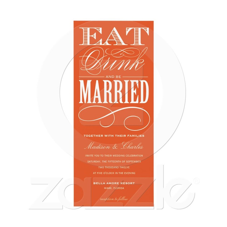 & BE MARRIED | WEDDING INVITATION STYLE 2 from Zazzle.com