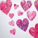 """""""Stained-glass"""" Hearts. Wanna try.Heart Crafts, Wax Heart, Glasses Valentine, Heart Valentine, Crayons Stained Glasses, Stainedglass Heart, Stained Glasses Heart, Holiday Crafts, Kids Valentine Crafts"""