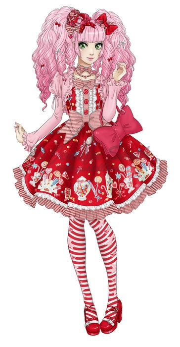 I realllyyy wanna do a pink x red coord someday when I'm lolita! (;o; )