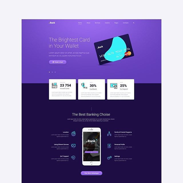 My old project. Website template for online banking or some card startup  #webdesign #startup #uiux #uidesign #uxdesign #banking #creditcard #card #webdesigner #artdirection #onlinebanking #template #responsive #typography #infographic #landing
