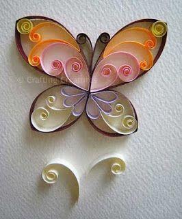 Quilled Butterflies - quilling papillon