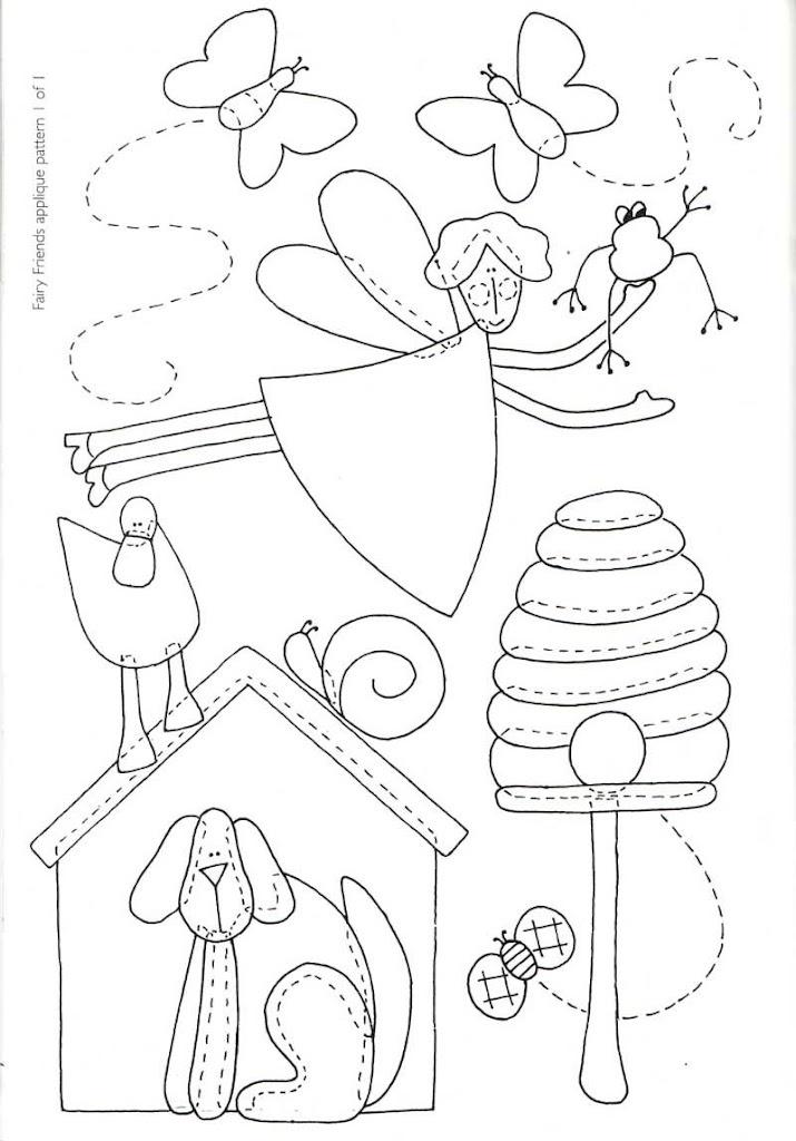 Fairy Friends applique pattern