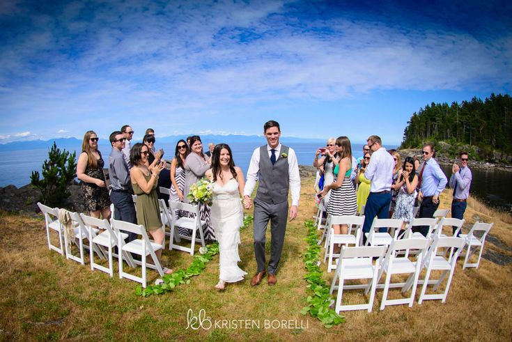 Gabriola Island Wedding Photography | Kristen Borelli Photography | Prince George Wedding Photographer | Bride and groom walking down the aisle