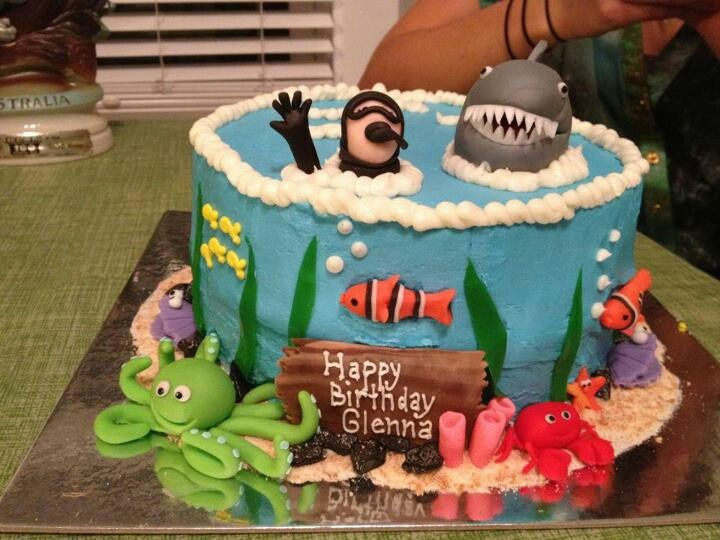 Scuba Diving Cake Cakes And Cake Decorating Pinterest