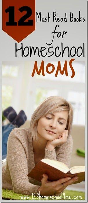 12 Must Read Books for Homeschool Moms - great for new homeschoolers and veteran homeschool moms alike! #homeschool #homeschooling