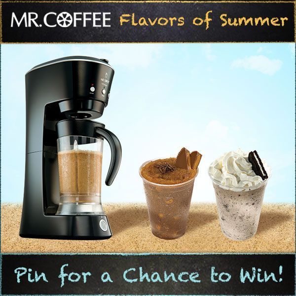 What is  your favorite flavor of frappe? You could win a Mr. Coffee® Café Frappe! Enter our Pinterest contest today -- visit us on http://on.fb.me/1qsda4s to enter. Contest ends 7/25/14. #MrCoffee