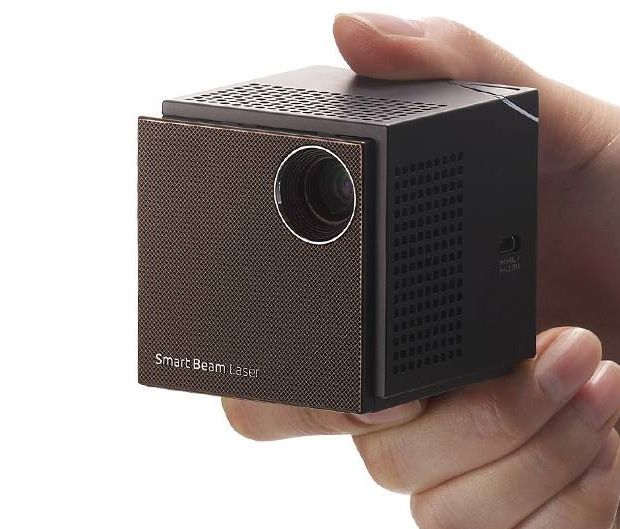 UO Beam Laser Projector - As fun as it is to gather around someone's phone and watch along, this mini HD pico projector will surely provide a better viewing experience. It features a laser diode that makes it bright enough for daylight use & offers crisp, 720P HD projection up to 100-inches. | via werd.com