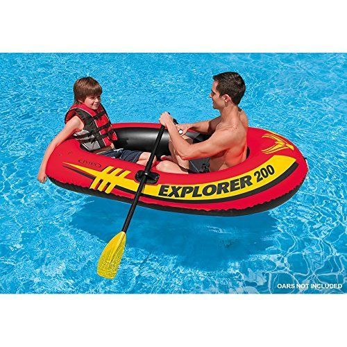 Summer Sports Inflatable Boat 2 Person Kayaking Canoeing Water Pool Lake Outdoor #INTEX