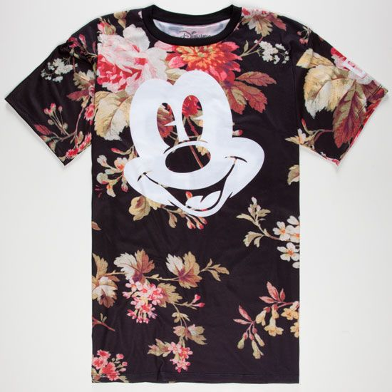 NEFF Disney Collection Mickey Face Mens T-Shirt Loving the combination of  prints