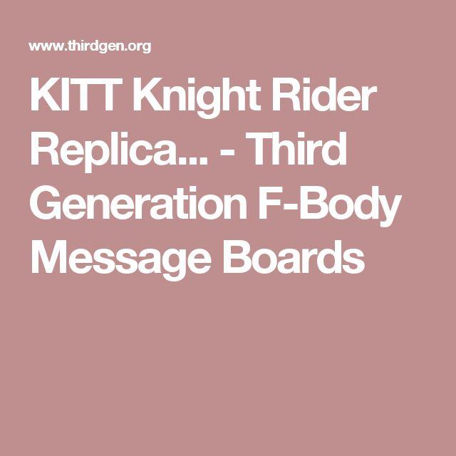 KITT Knight Rider Replica... - Third Generation F-Body Message Boards