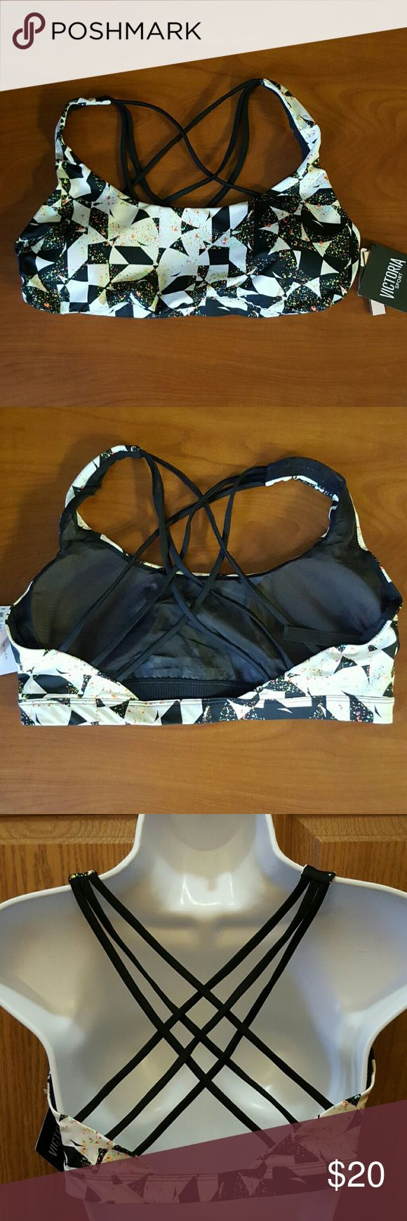 💛VSX Sport NWT Multi-colored Sports Bra Size L Description: -NWT -Brand: Victoria's Secret  -Size: Large -Color: White, Black, Green, Pink, Yellow -Beautiful Sports Bra! -Body-Wick keeps you cool and dry     Made in Sri Lanka. Victoria's Secret Intimates & Sleepwear Bras