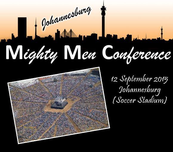 """Mighty Men Conference Johannesburg 12 September 2015, Johannesburg Soccer Stadium. Most of those who attended the conference called it a life-changing experience, according to Lesley Ashwell, who has been attending the conference ever since it started. """"It was absolutely awesome and humbling, seeing grown men cry.""""  See Ev. Angus Buchan on Grassroots (Weekdays from 1pm to 1:30pm)"""