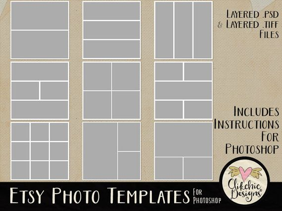 Etsy Photo Templates - Multiple Photo Templates - Storyboard Photo Templates - Photography Templates by ClikchicDesign #photoshop #graphic #design by Clikchic Designs