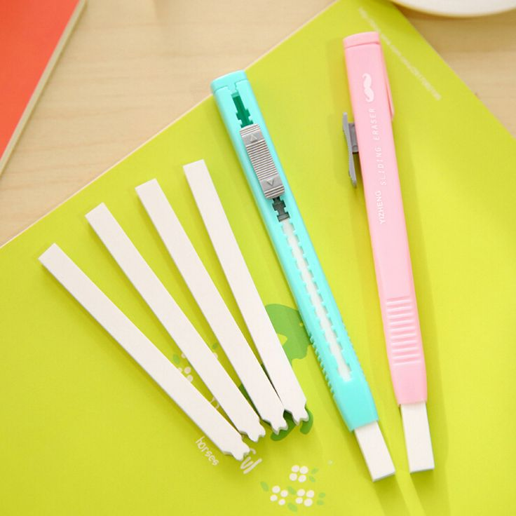 Q08 Simple Design Knife Style Stretched Rubber Eraser School Office Supply Wrting Drawing Stationery Papeleria