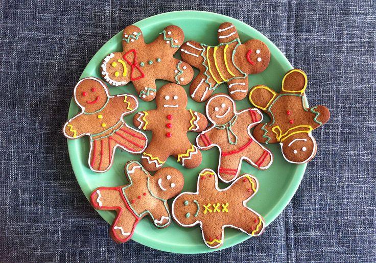 Gingerbread men, typische kerstkoekjes met gember, kaneel en kruidnagel