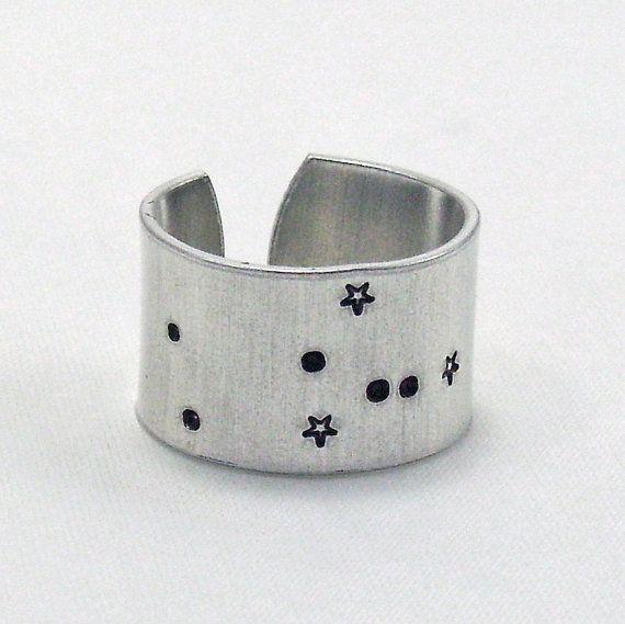 Taurus Zodiac Constellation Ring, taurus ring, zodiac ring, constellation ring, taurus on Etsy, $20.00