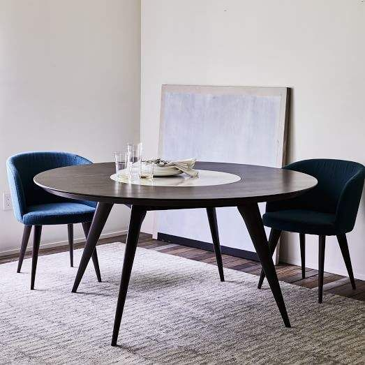 Turner Lazy Susan Dining Table Inset Legs Solid Love