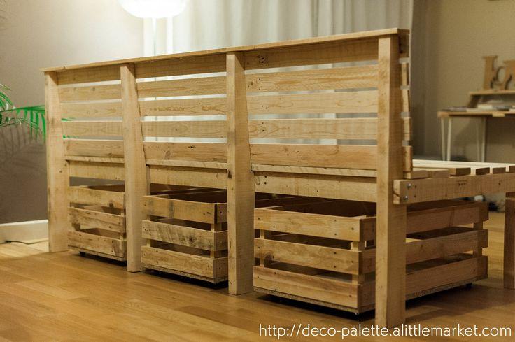 cr ation d 39 un banc sur mesure pour accueillir une grande famille et qui dit enfant dit jouets. Black Bedroom Furniture Sets. Home Design Ideas