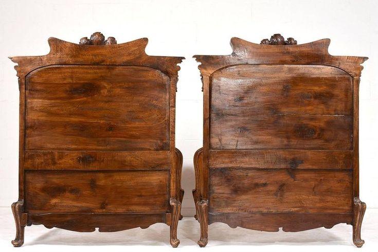 ágykeret, antik bútor, szecessziós antik bútor