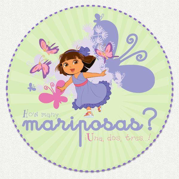 Dora The Explorer Mariposas Wall Decal   Wall Sticker Outlet
