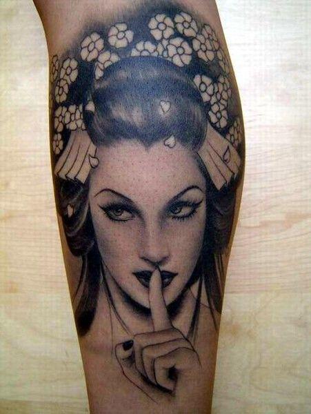 Semana Oriental: 58 Tatuagens de Gueixas