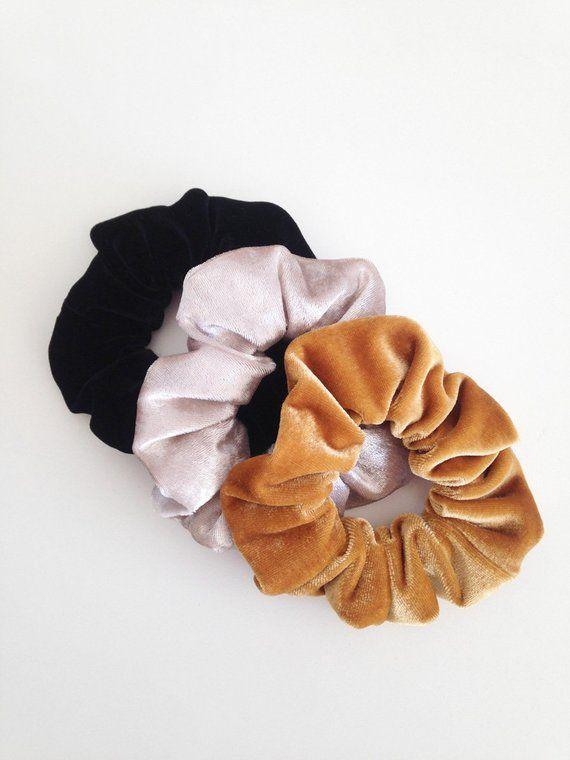 bb7d01a371c velvet hair holder velvet scrunchie pack ponytail holder