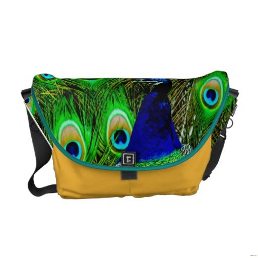 Peacock feathers rickshaw bag COLOR CHANGE Commuter Bags