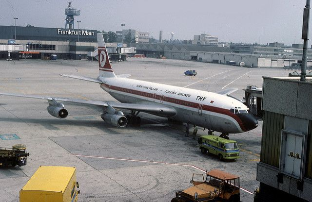 Boeing 707 17590: 707-121 TC-JBC THY Frankfurt Airport | Flickr