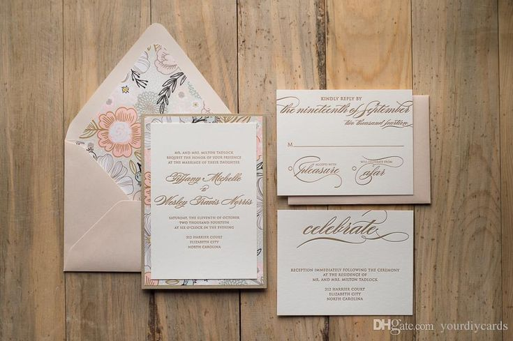 Fancy Flower Letterpress Wedding Invitations Floral Wedding Invitations Elegant, Custom Design Free Online Birthday Cards Free Online Christmas Cards From Yourdiycards, $2.82| Dhgate.Com
