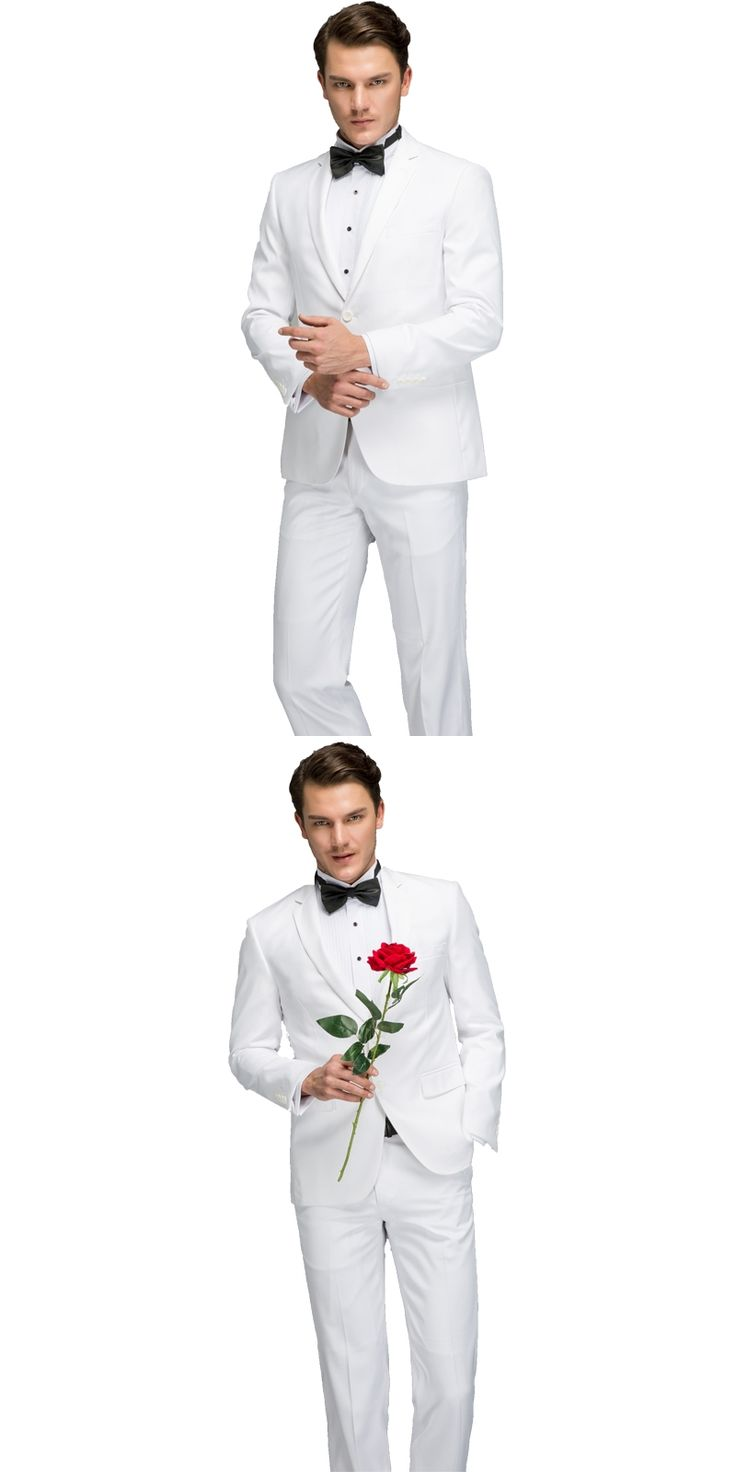 Mens White Suit 2017 Latest Coat Pant Designs Suit Formal Wear Suits Set With Pants Male Slim Fit White Costume Prom Dress